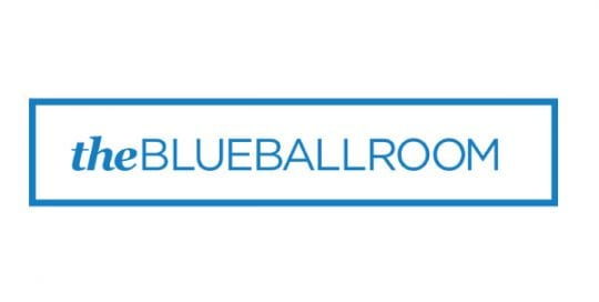The blue ball room
