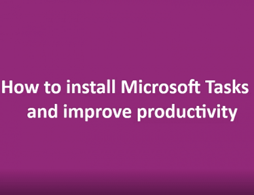IT Tips: using Microsoft Tasks to improve productivity