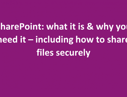 Tips on SharePoint – including SharePoint file sharing