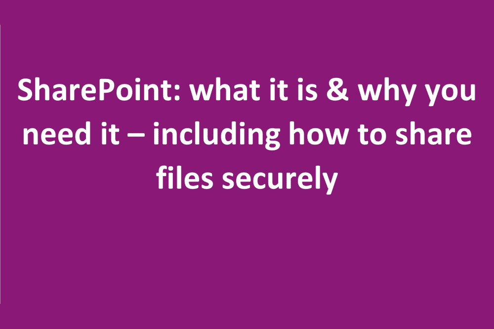 SharePoint file sharing and other useful tips about SharePoint