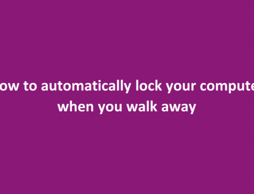 Windows Dynamic Lock to the rescue!