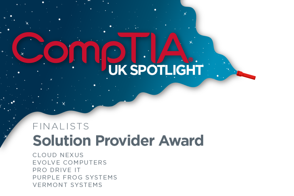 CompTIA UK Spotlight awards Solution Provider of the Year 2021 finalist